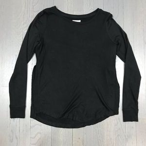 Lou & Grey Side Slit Pullover Athleisure Shirt Top